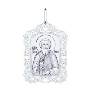 Иконка из серебра «Сергий Радонежский» 94100232 SOKOLOV