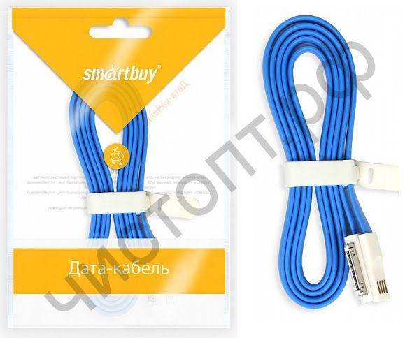 Кабель USB - Apple 30 pin Smartbuy, магнитный, 1,2 м, голубой, дата (iK-412m blue)