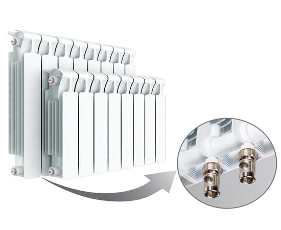 Биметаллический радиатор RIFAR MONOLIT Ventil 500 правое нижнее подключение 6 секции