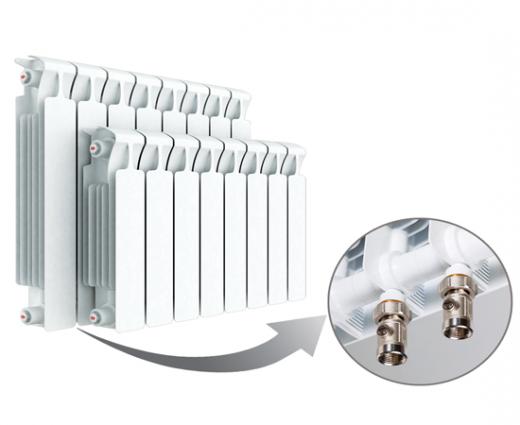 Биметаллический радиатор RIFAR MONOLIT Ventil 350 правое нижнее подключение 4 секции