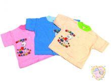 """Кофта для новорожденных с коротким рукавом A-KF121-JTk (жатка) оптом """"Мамин Малыш"""" код 0943-1"""