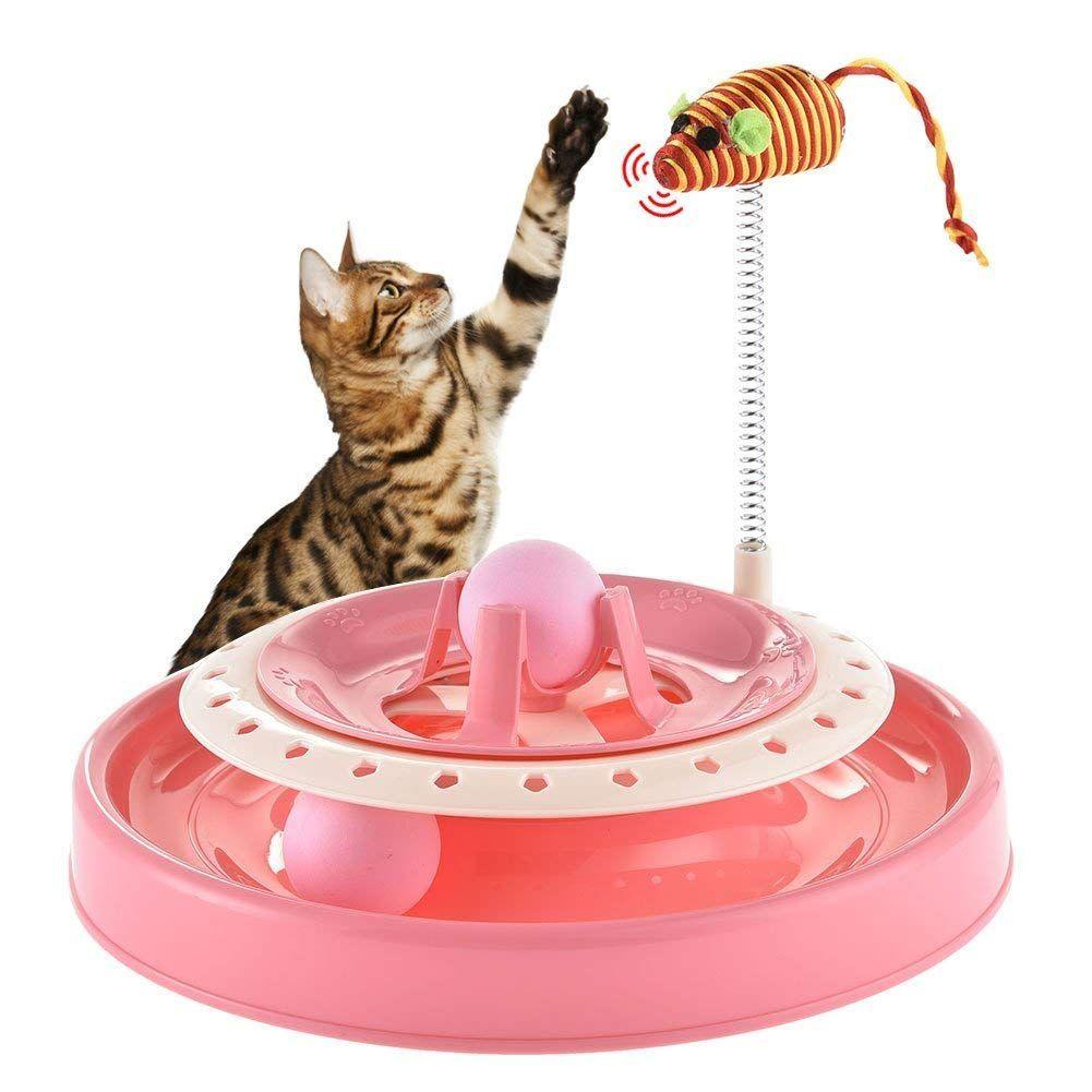 Игрушка-Трек Для Кошек С Двумя Мячиками Cat Scratch Pan