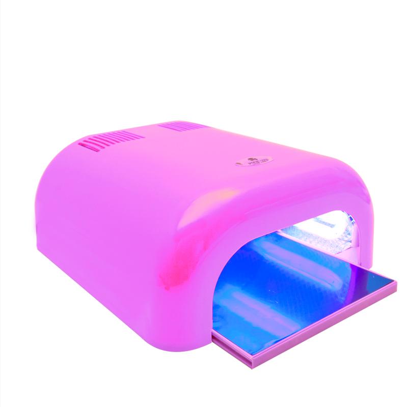Лампа для гель-лака PROFESSIONAL NAIL GEL UV LAMP, цвет розовый