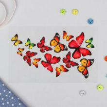 """Термотрансфер """"Бабочки """", 13*20см, цвет красный"""