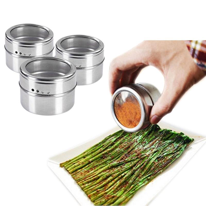 Ёмкость для специй на магнитной пластине Magnetic Spice Rack 4шт