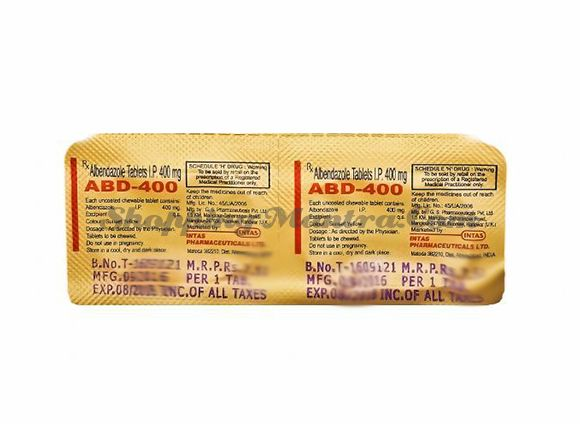 Противопаразитарный препарат АБД Альбендазол 400мг Интас Фарма | Intas Pharma ABD Albendazole 400mg