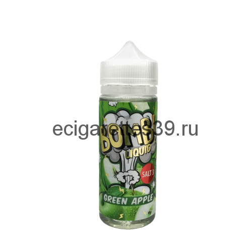 Жидкость Cotton Candy Bomb Green Apple, 120 мл.