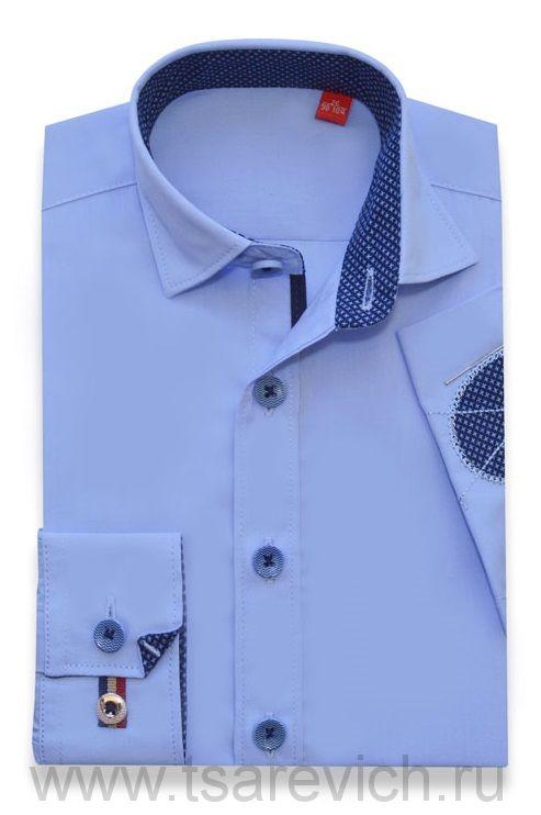 Детская рубашка дошкольная,   оптом 10 шт., артикул: Cashmere Blue LOK