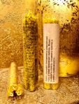 УКРОП 3 шт Свечи из вощины цвет натуральный желтый