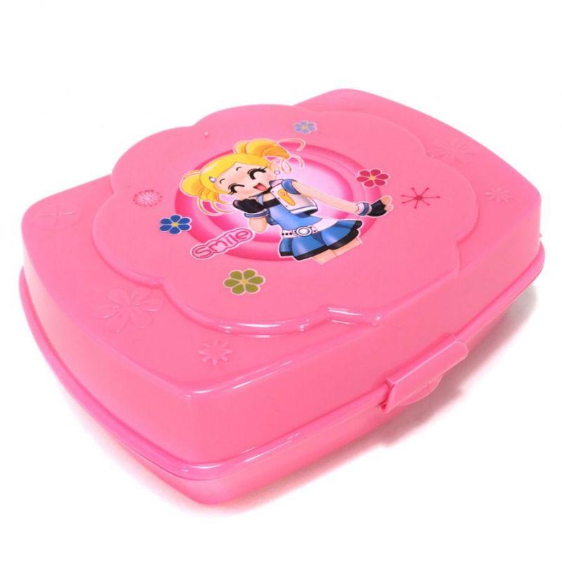 Ланч-Бокс Детский Smile, Цвет Розовый