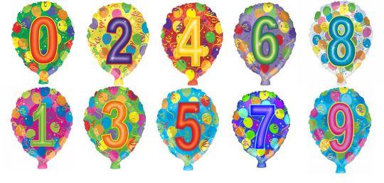 Цифры в форме шара шар фольгированный с гелием