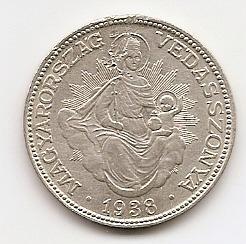 2 пенгё( Регулярный выпуск) 1938 Венгрия