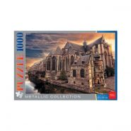 ПАЗЛЫ-ИГРА 1000 элементов А2ф 680Х450mm Металлик -Старинный замок_Собор в Генте- (арт. 1000ПЗ2мт_12405)