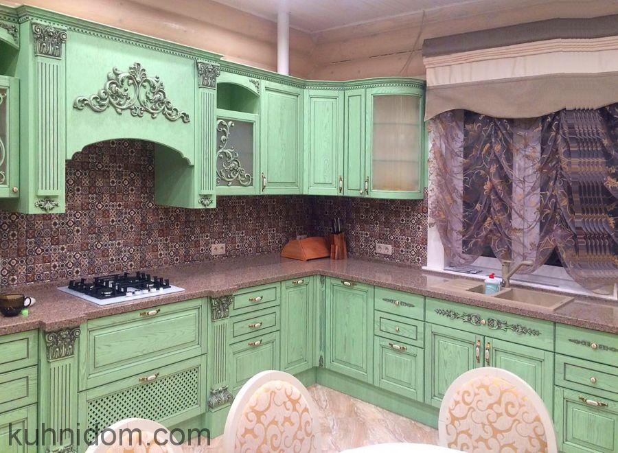 Кухня Кристина Зеленая