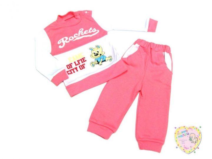 Спортивный костюм для девочки 01749-2 (интерлок-пенье)