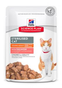 Hill's Science Plan Feline Sterilised with Salmon 12/85g