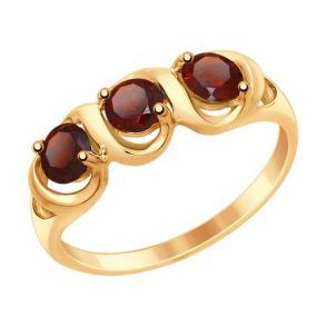 Кольцо из золота с гранатами 714863 SOKOLOV