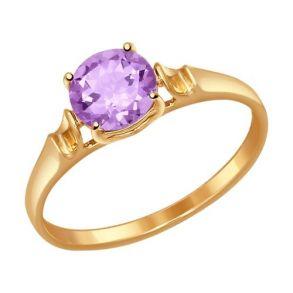 Кольцо из золота с аметистом 714490 SOKOLOV