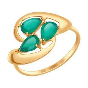 Кольцо из золота с агатами 714629 SOKOLOV