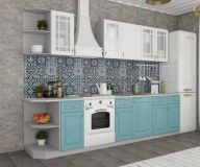 Кухня Гранд (Белый/Зеленый)