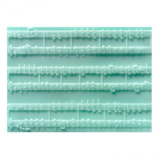 Текстурный лист, Ноты