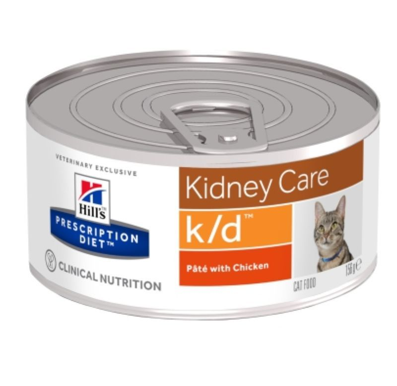Hill's Prescription Diet Feline (cans) k/d with Chicken 156 гр.
