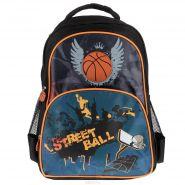 """Рюкзак ранец школьный Silwerhof """"Street Ball"""", цвет: черный, оранжевый (арт. 830657)"""