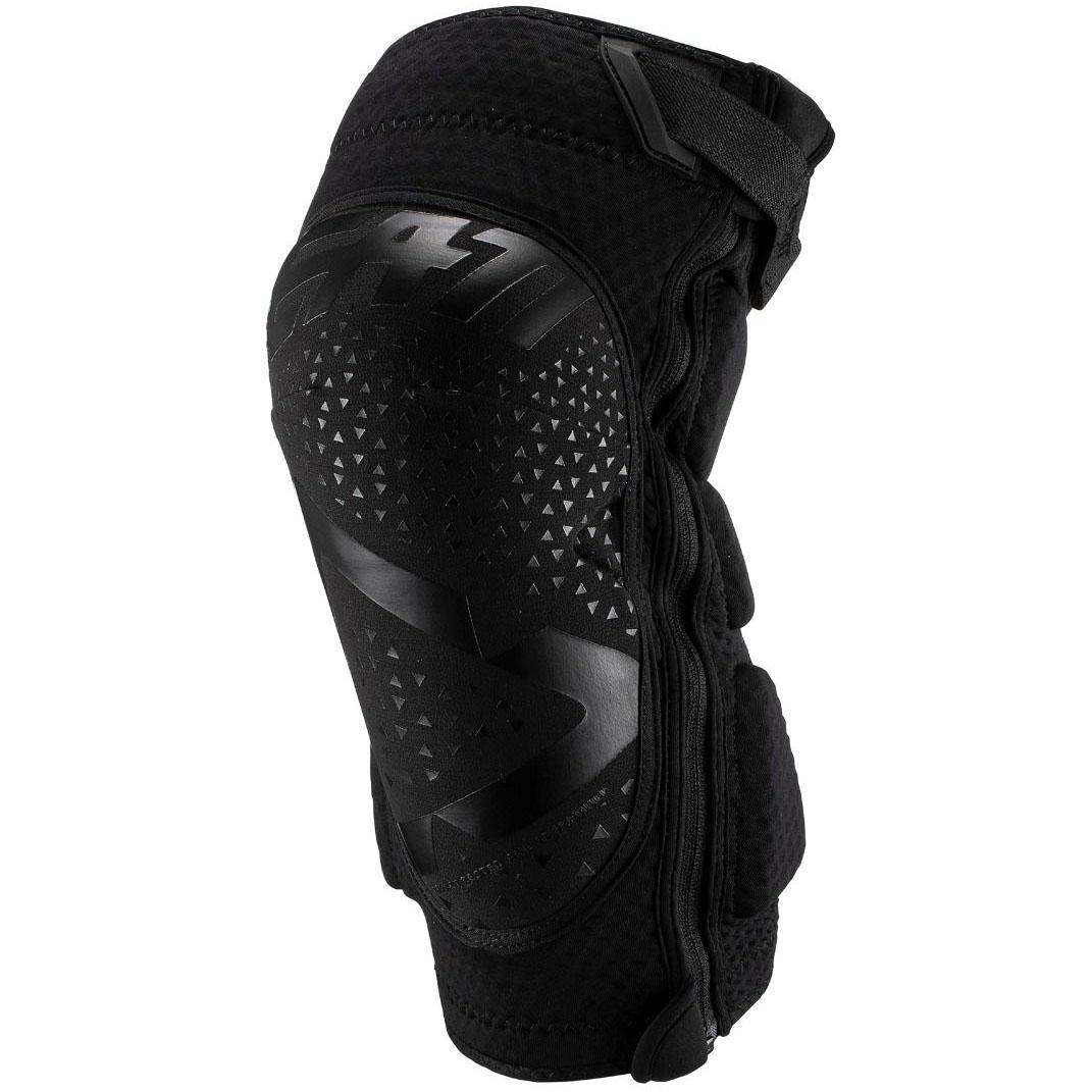 Leatt - 2019 3DF 5.0 Zip Knee Guard Black защита колен на молнии, черная
