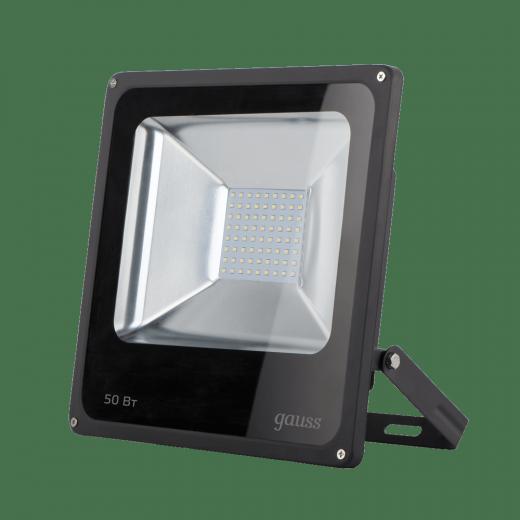 Прожектор светодиодный Gauss LED 50W IP65 6500К черный 1/40