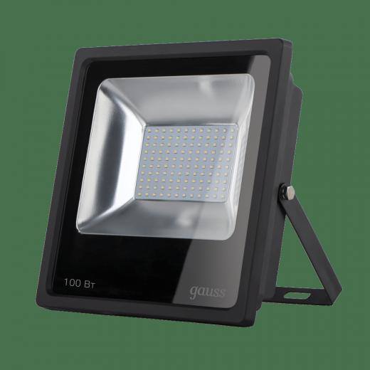 Прожектор светодиодный Gauss LED 100W IP65 6500К черный 1/14