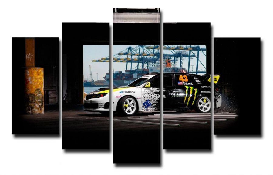 Модульная картина Авто в гараже