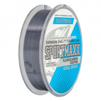 Леска Chimera Sportmaxx Fluorocarbon Coating Steel Smoke 100 м /0,22мм / 6,5 кг