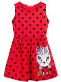 Купить платье для девочки в горошек 3-7 лет Bonito BJ1172P2