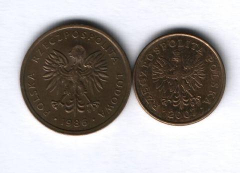 Набор монет Польша 1986-2007 гг. 2 шт.