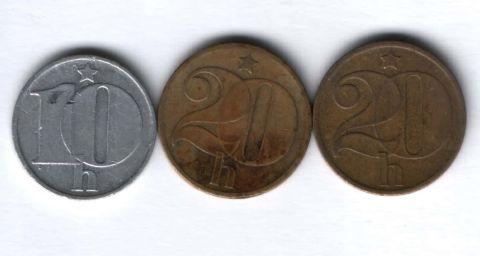 Набор монет Чехословакия 1973-1978 гг. 3 шт.