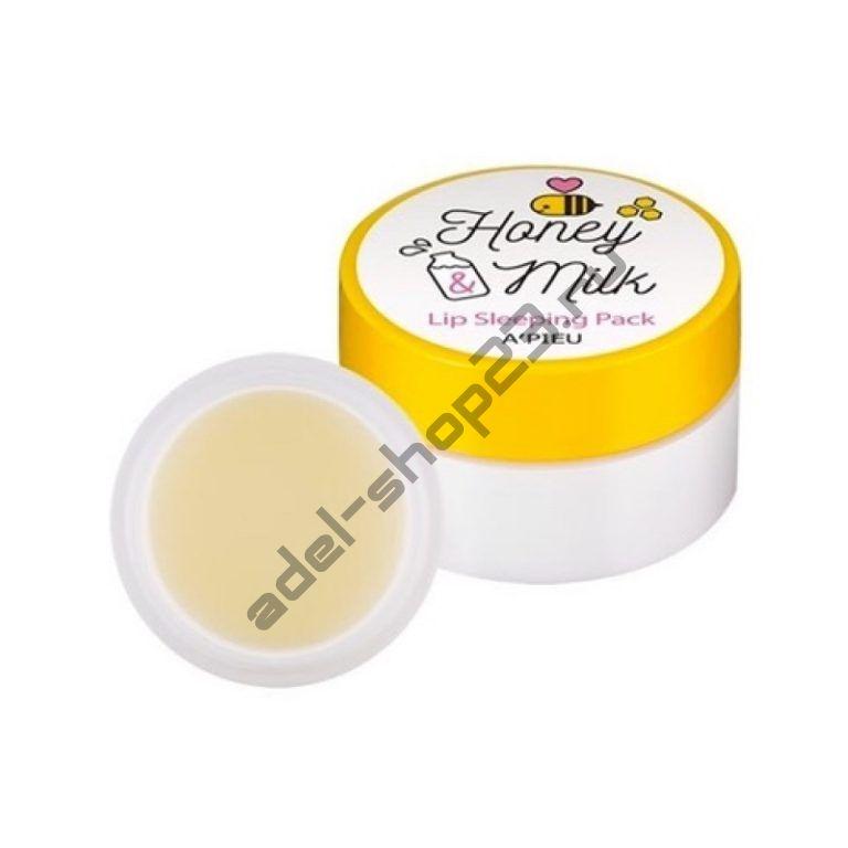 A'PIEU - Ночная маска для губ с медом и молоком Honey & Milk Lip Sleeping Pack