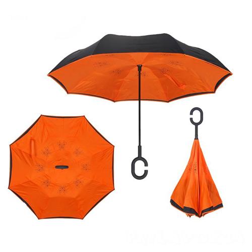 Зонт Наоборот, Оранжевый однотонный