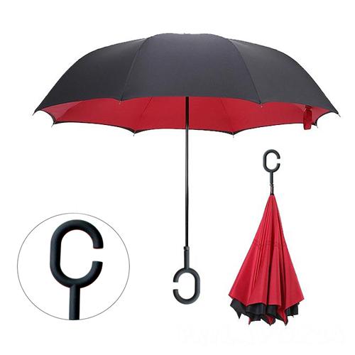 Зонт Наоборот, Красный однотонный