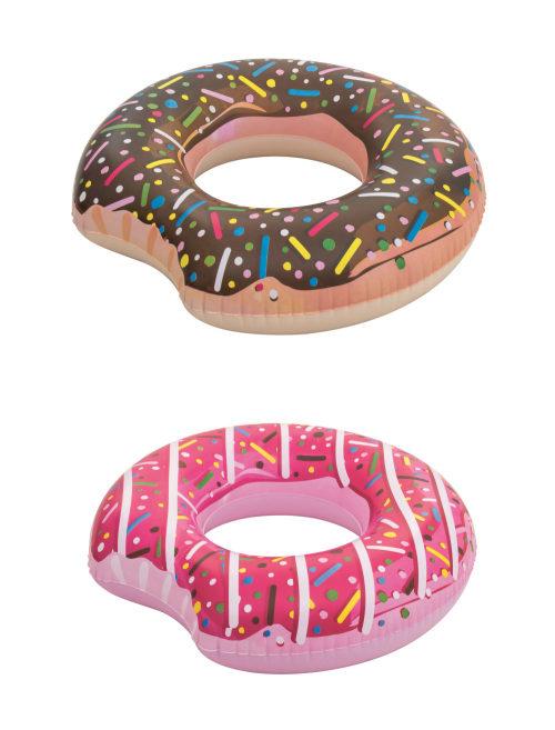 Надувной круг Пончик 107 см, 2 цвета в ассортименте