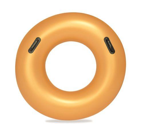 Надувной круг Золото с ручками 91 см