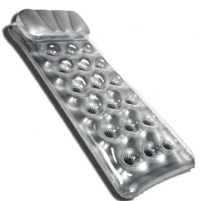 Надувной матрас-бар Сантаннер 188х71 см, серебряный