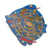 Деревянная игрушка. Лабиринт с шариками РЫБКА (арт. ИД-7760)