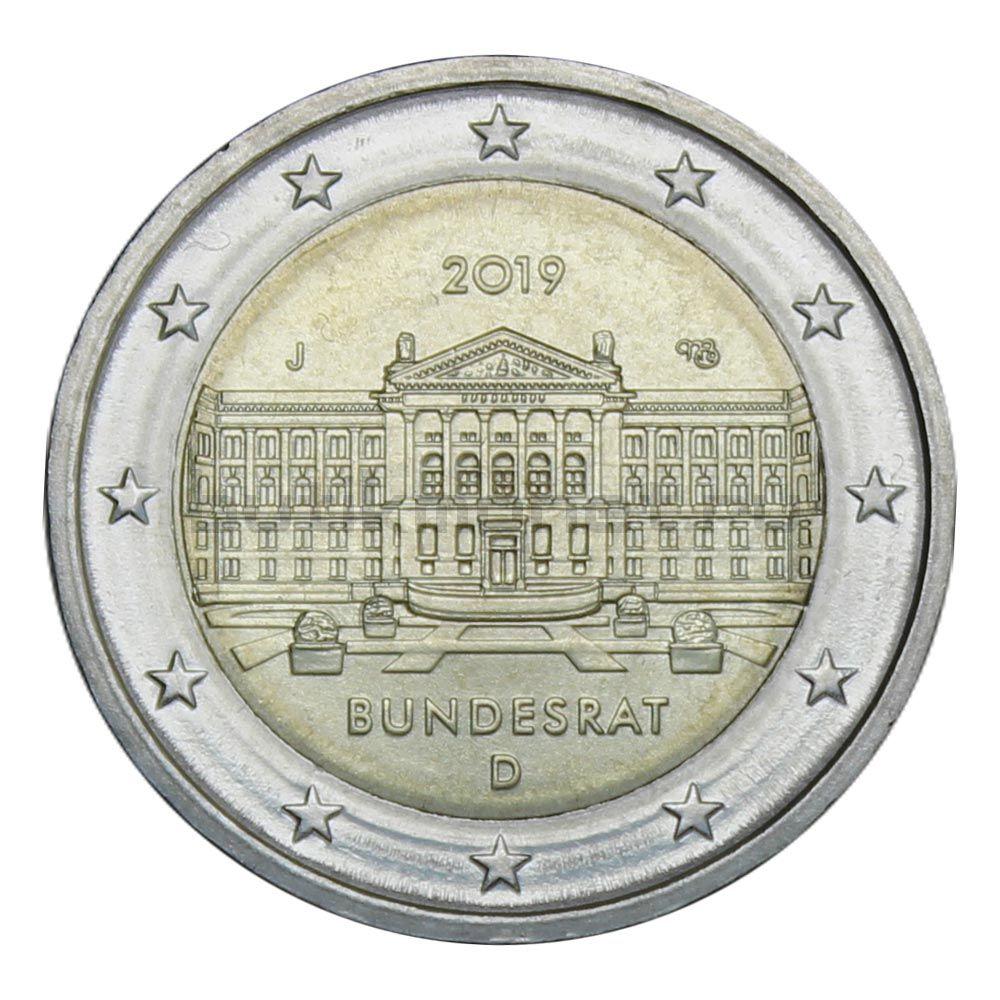 2 евро 2019 Германия 70 лет Бундесрату J