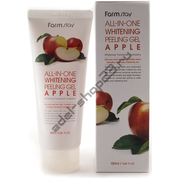 FARMSTAY - Пилинг-гель на основе экстракта яблока с осветляющим эффектом All-In-One Whitening Peeling Gel Apple