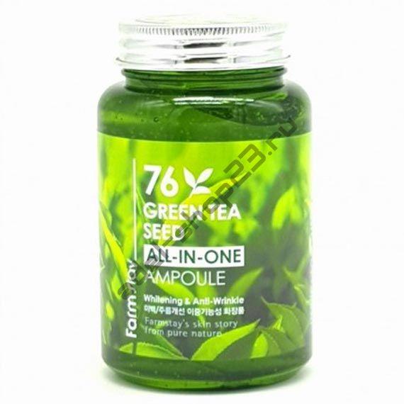 FarmStay - ампульная сыворотка с зеленым чаем 76 Green Tea All-In-One Ampoule 250 мл