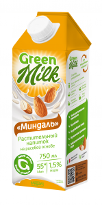 «Миндаль» растительный напиток на рисовой основе 750 мл