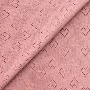 Лоскут трикотажной перфорированной ткани - Розовый