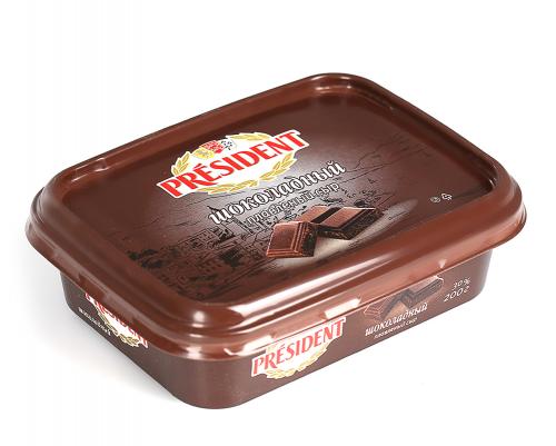 Pendir President əridilmiş Şokoladlı 30% , 200  gr