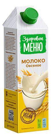 Молоко Здоровое меню овсяное 1л