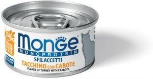 Monge Cat Monoprotein мясные хлопья для кошек из индейки с морковью 80 гр.